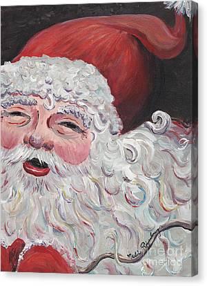 Jolly Santa Canvas Print by Nadine Rippelmeyer