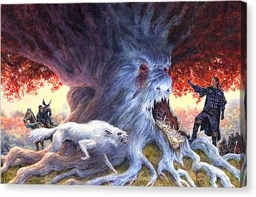 Jon At Whitetree Canvas Print by Richard Hescox