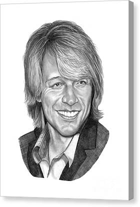 Jon Bon Jovi Canvas Print by Murphy Elliott