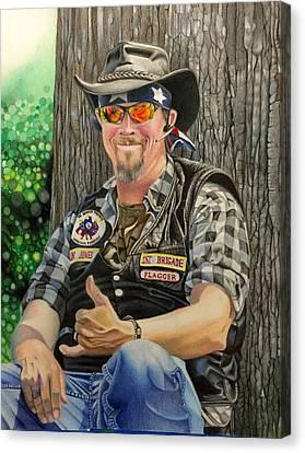 David Hoque Canvas Print - Jon Jones, Army Of Northern Virginia Mechanized Cavalry  by David Hoque