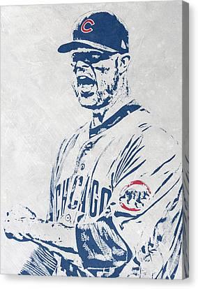 Jon Lester Chicago Cubs Pixel Art Canvas Print by Joe Hamilton