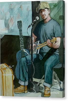 Jon Short-have Blues Will Travel Canvas Print by Lynn Babineau