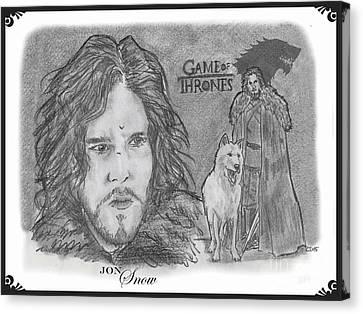 Jon Snow Canvas Print by Chris  DelVecchio