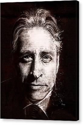 Jon Stewart Canvas Print by Fay Helfer