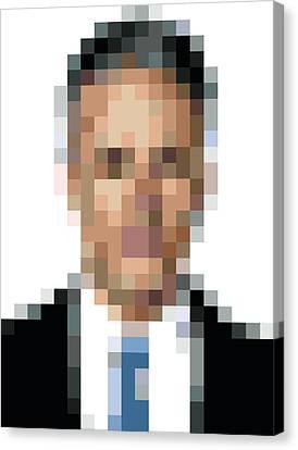 Jon Stewart Pixelface Canvas Print by Pixel Face