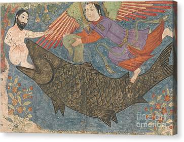 Jonah And The Whale Canvas Print by Iranian School