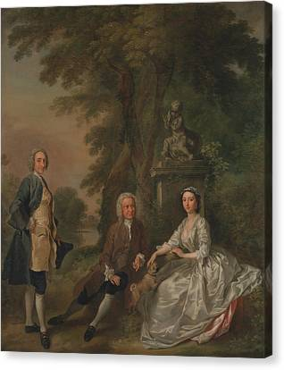Jonathan Tyers, With His Daughter Elizabeth, And Her Husband John Wood Canvas Print