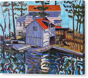 Jones Boathouse Canvas Print by Phil Chadwick