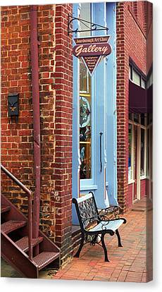 Jonesborough Tennessee Main Street Canvas Print by Frank Romeo