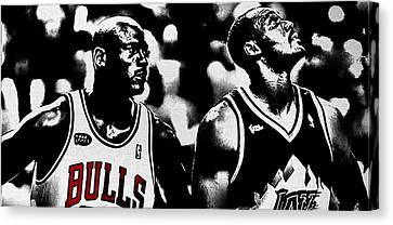 Jordan And Malone 2e Canvas Print by Brian Reaves