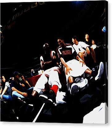 Jordan Canvas Print - Jordan And Pippen Last Stand by Brian Reaves