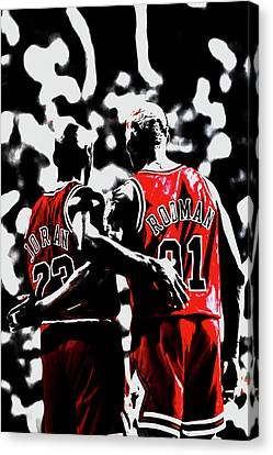 Jordan And The Worm Going Into Battle Canvas Print by Brian Reaves