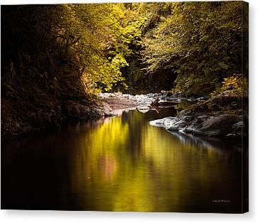 Jordan Canvas Print - Jordan Creek by Leland D Howard