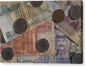 Jordan Currency Canvas Print by Richard Nowitz