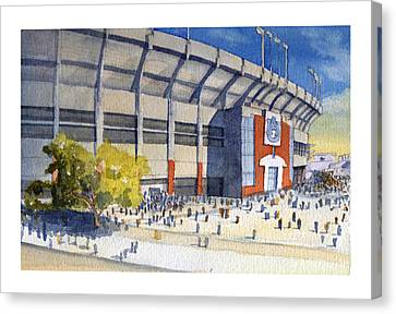 Jordan-hare Stadium Canvas Print by Bill Whittaker