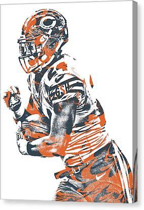 Jordan Canvas Print - Jordan Howard Chicago Bears Pixel Art 6 by Joe Hamilton