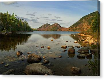 Canvas Print featuring the photograph Jordan Pond 1 by Arthur Dodd