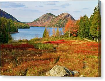 Canvas Print featuring the photograph Jordan Pond 2 by Arthur Dodd