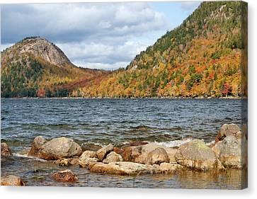 Maine Mountains Canvas Print - Jordan Pond - Acadia National Park by Nikolyn McDonald