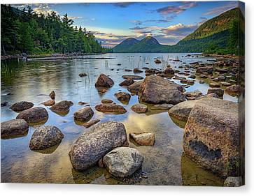 Jordan Pond And The Bubbles Canvas Print by Rick Berk