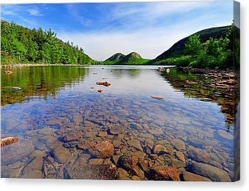 Nature Scene Canvas Print - Jordan Pond And The Bubbles by Expressive Landscapes Fine Art Photography by Thom