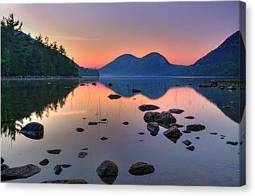 Jordan Pond At Sunset Canvas Print by Thomas Schoeller