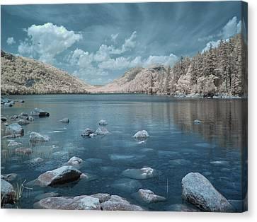Infrared Canvas Print - Jordan Pond Blue by Bob LaForce