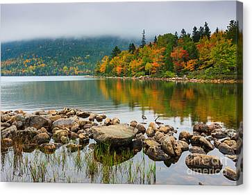 Jordan Pond Canvas Print by Henk Meijer Photography