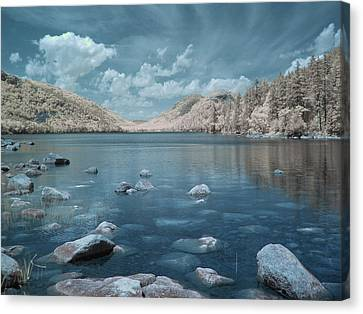 Jordan Pond Horizon Canvas Print by Bob LaForce
