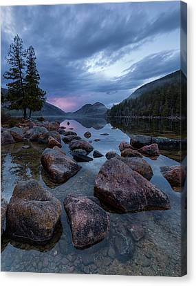 Canvas Print featuring the photograph Jordan Pond Sunset  by Patrick Downey