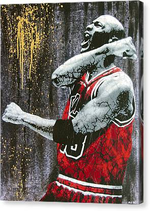 Street Art Canvas Print - Jordan - The Best There Ever Was by Bobby Zeik