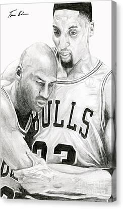 Michael Jordan Canvas Print - Jordan Will To Win by Tamir Barkan