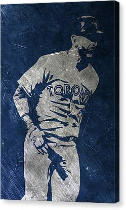 Mlb Canvas Print - Jose Bautista Toronto Blue Jays Art by Joe Hamilton