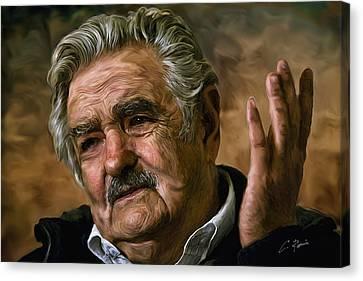 Jose Mujica Canvas Print
