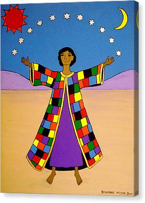 Joseph And His Coat Of Many Colours Canvas Print by Stephanie Moore