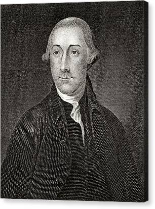 Joseph Hewes 1730 To 1779 American Canvas Print by Vintage Design Pics