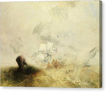 Whalers Canvas Print by Joseph Mallord William Turner