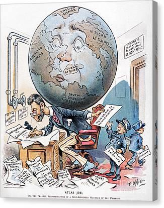 Joseph Pulitzer Cartoon Canvas Print by Granger