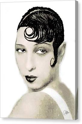 Josephine Baker Draw Canvas Print by Quim Abella