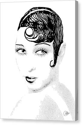Josephine Baker Pencil Canvas Print by Quim Abella