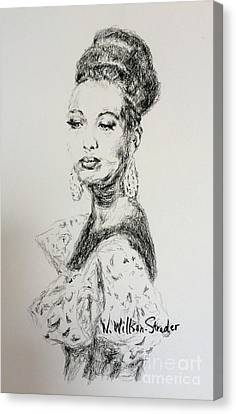 Updo Canvas Print - Josephine by N Willson-Strader