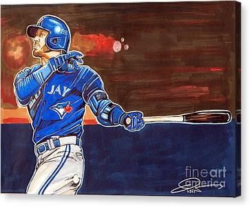 Josh Donaldson Canvas Print by Dave Olsen