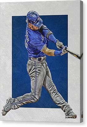 Josh Donaldson Toronto Blue Jays Art 2 Canvas Print by Joe Hamilton