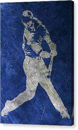 Josh Donaldson Toronto Blue Jays Art Canvas Print by Joe Hamilton