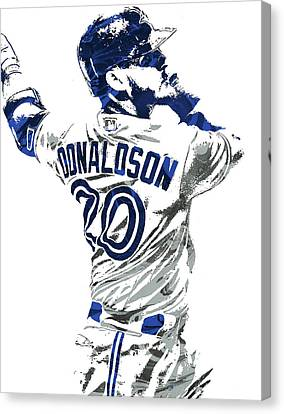 Josh Donaldson Toronto Blue Jays Pixel Art Canvas Print by Joe Hamilton