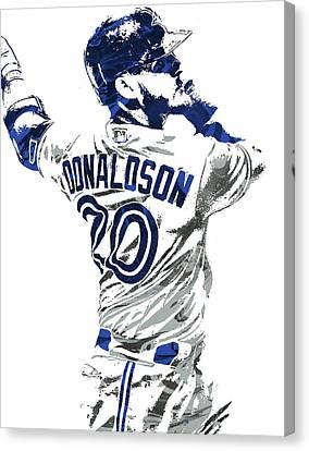 Josh Donaldson Toronto Blue Jays Pixel Art Canvas Print