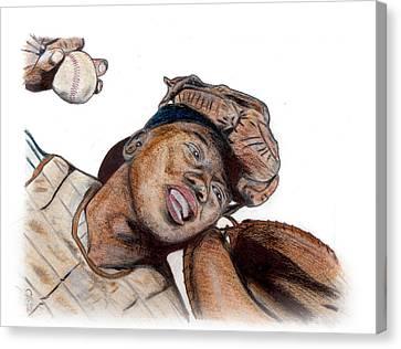 Josh Gibson Canvas Print by Chris Grimm