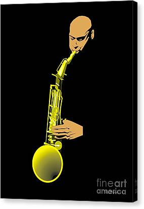 Joshua Redman Canvas Print by Walter Oliver Neal