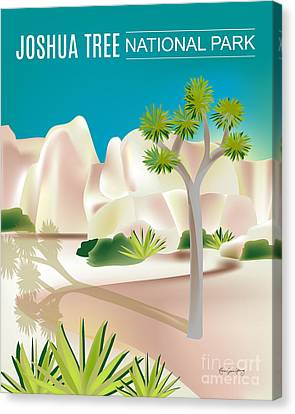Joshua Tree National Park Vertical Scene Canvas Print