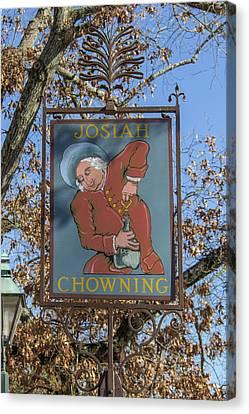 Josiah Chowning Sign Canvas Print by Teresa Mucha